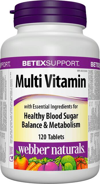 Diabetex Multivitamín s minerálmi Webber Naturals | výživový doplnok | vitamín