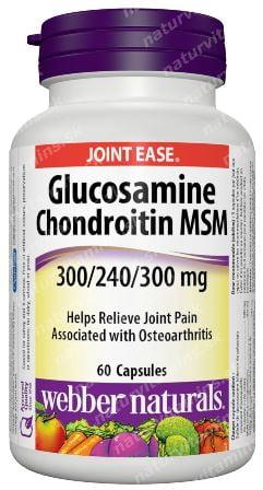 Glukosamín, Chondroitín a MSM 840 mg Webber Naturals   výživový doplnok   vitamín