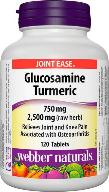 Glukozamín, Kurkuma 750 mg Webber Naturals | výživový doplnok | vitamín