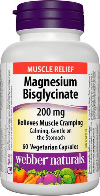 Horčík Bisglycinát 200 mg Webber Naturals | výživový doplnok | vitamín