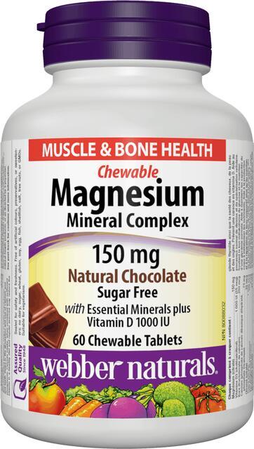 Minerálny komplex s magnéziom 150 mg Webber Naturals   výživový doplnok   vitamín