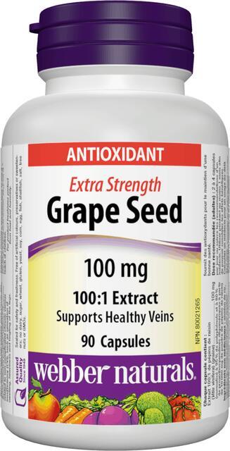 Hroznové jadierka 100 mg Forte Webber Naturals | výživový doplnok | vitamín