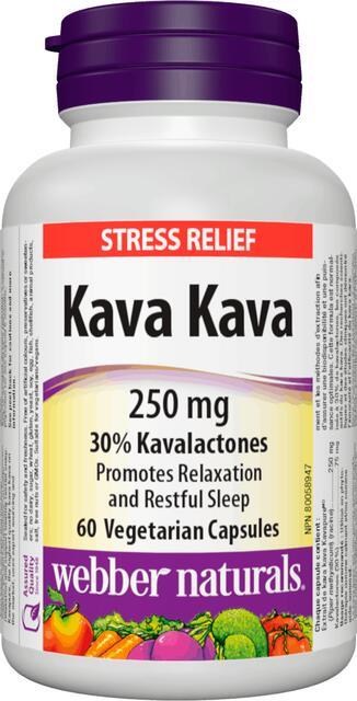 Kava Kava (Piepor opojný) 250 mg Webber Naturals | výživový doplnok | vitamín