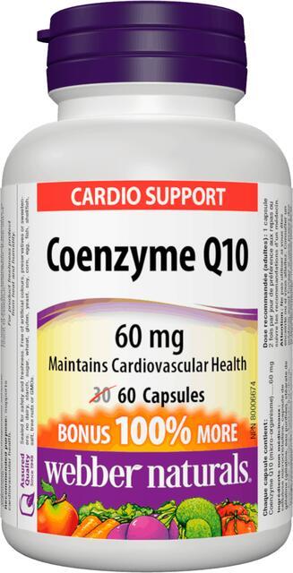 Koenzým Q10 60 mg BONUS Webber Naturals   výživový doplnok   vitamín