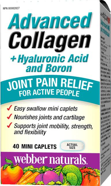 Kolagén II s kyselina hyalurónová a bór Webber Naturals   výživový doplnok   vitamín