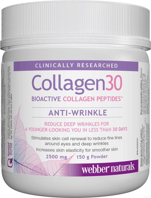 Kolagén30 I a III bioaktívny kolagénový peptid proti vráskam 2500 mg Webber Naturals | výživový doplnok | vitamín