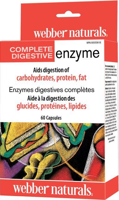Kompletné tráviace enzýmy FORTE Webber Naturals | výživový doplnok | vitamín