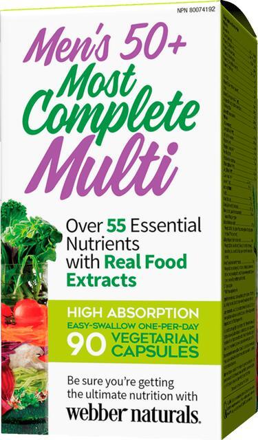 Kompletný multivitamín pre mužov 50+ Webber Naturals | výživový doplnok | vitamín