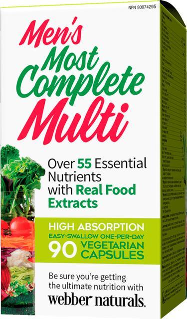 Kompletný multivitamín pre mužov Webber Naturals | výživový doplnok | vitamín
