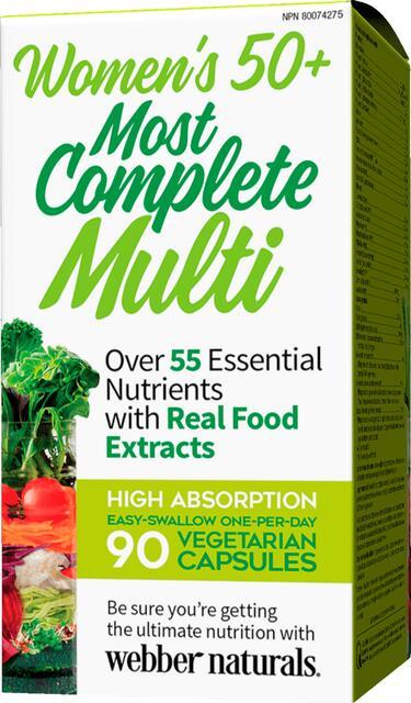 Kompletný multivitamín pre ženy 50+ Webber Naturals | výživový doplnok | vitamín