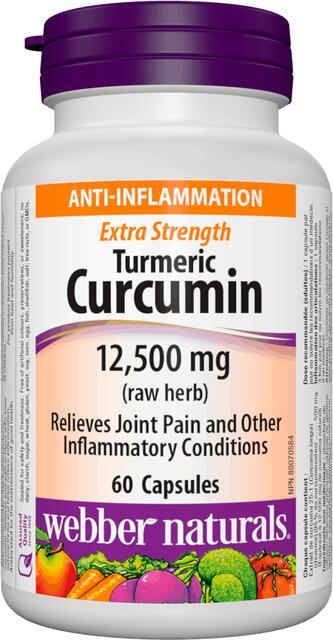 Kurkuma (kurkumín) 12,500 mg Extra Silná Webber Naturals   výživový doplnok   vitamín