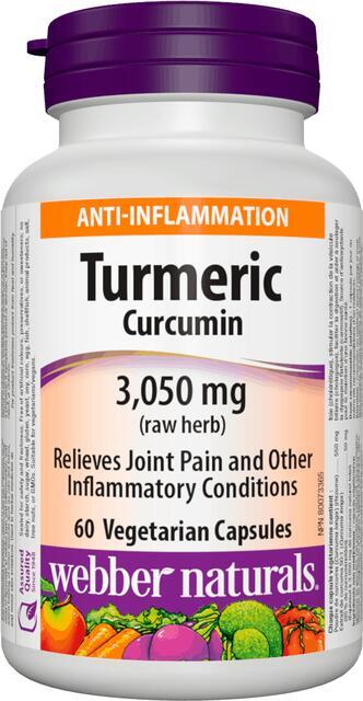 Kurkuma (kurkumín) 3,050 mg Webber Naturals   výživový doplnok   vitamín