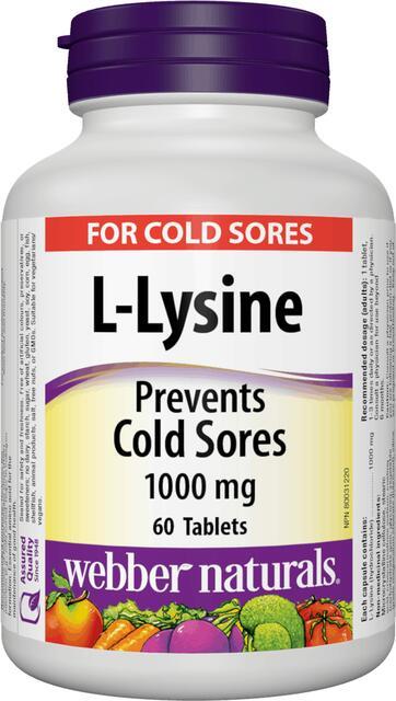 L-lysín (Lysine) 1000 mg Webber Naturals | výživový doplnok | vitamín