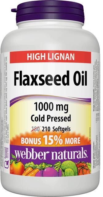 Ľanový olej 1000 mg Bonus Webber Naturals | výživový doplnok | vitamín