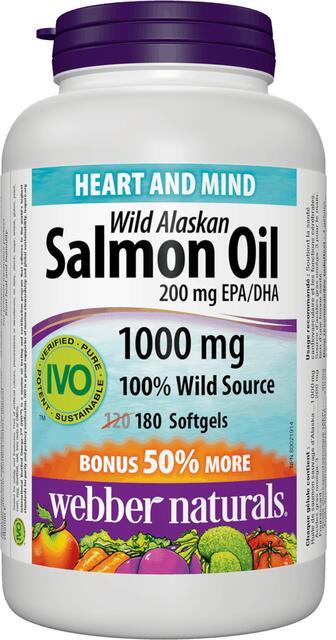 Omega-3 Lososový olej 1000 mg Bonus Webber Naturals | výživový doplnok | vitamín