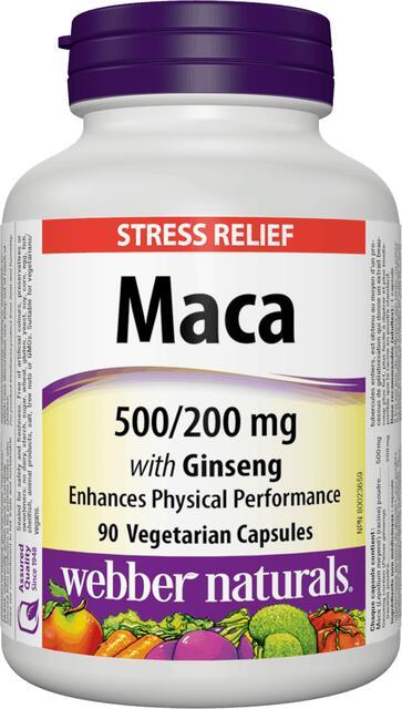 Maca, Ženšen 500 mg / 200 mg Webber Naturals | výživový doplnok | vitamín