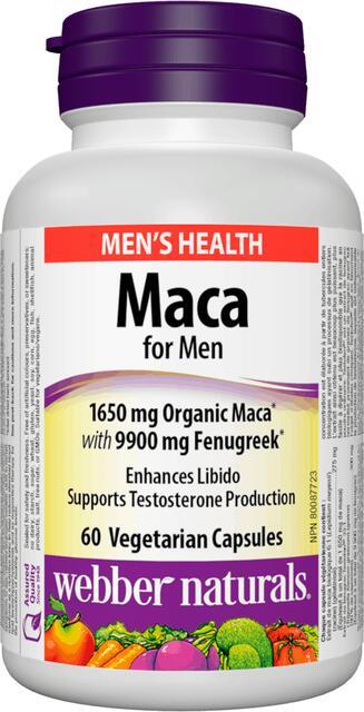 Maka pre mužov 1650 mg + senovka grécka Webber Naturals | výživový doplnok | vitamín