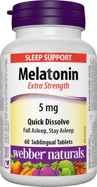 Melatonin 5 mg FORTE Webber Naturals | výživový doplnok | vitamín
