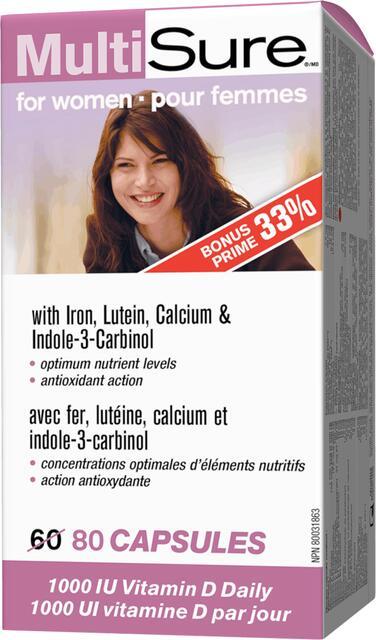 Multivitamín s Minerálmi pre ženy s luteínom Webber Naturals | výživový doplnok | vitamín