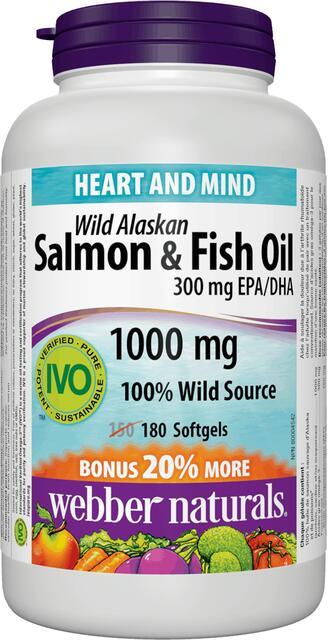 Omega-3 losos a ryba 1000 mg Bonus Webber Naturals | výživový doplnok | vitamín