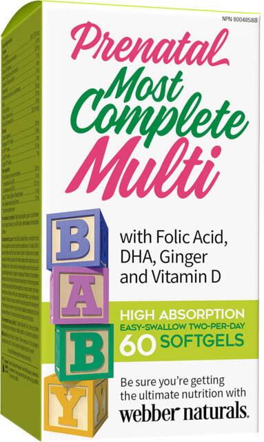 Prenatálny kompletný multivitamín, minerál + DHA   vitamín   Webber Naturals