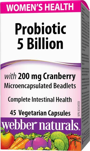 Probiotiká pre ženy s brusnicami 5 miliárd/200 mg Webber Naturals | výživový doplnok | vitamín