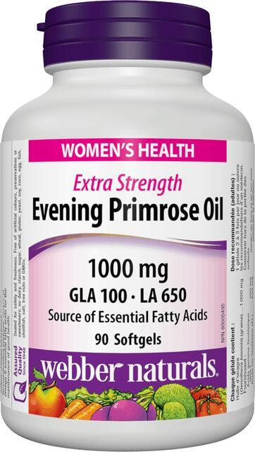 Pupalkový olej 1000 mg Webber Naturals | výživový doplnok | vitamín