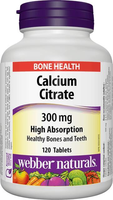 Calcium (Vápnik) Citrát 300 mg Webber Naturals | výživový doplnok | vitamín
