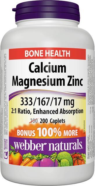 Vápnik (Calcium), Horčík a Zinok BONUS | vitamín | Webber Naturals