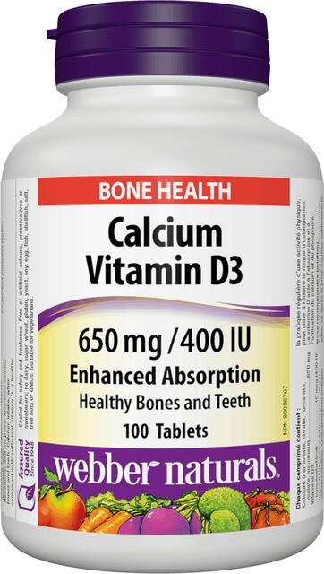 Calcium (Vápnik), Vitamín D3 FORTE Webber Naturals | výživový doplnok | vitamín
