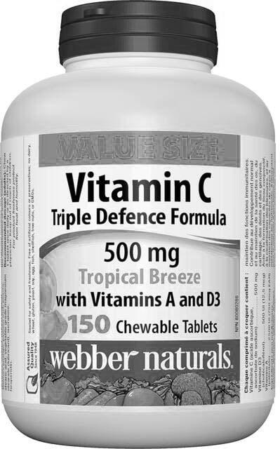 Vitamín C 500 mg + vitamín A a D3, cmúľajúci Webber Naturals | výživový doplnok | vitamín