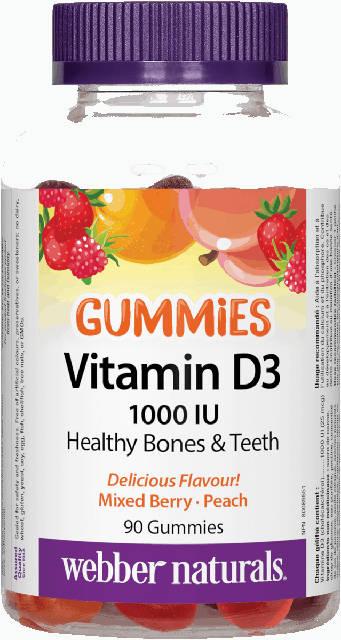 Vitamín D3 1000 IU Gummies Webber Naturals | výživový doplnok | vitamín