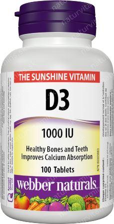 Vitamín D3 1000 IU Webber Naturals | výživový doplnok | vitamín