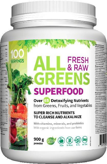 AllGreens zmes detoxikácia, očista a alkalizácia Webber Naturals | výživový doplnok | vitamín